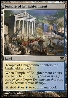 Magic the Gathering Born of the Gods Single Temple of Enlightenment FOIL - SLIGHT PLAY (SP)