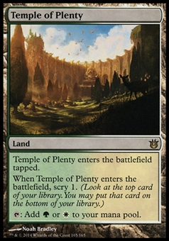 Magic the Gathering Born of the Gods Single Temple of Plenty - SLIGHT PLAY (SP)