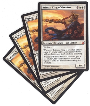 Magic the Gathering Born of the Gods Single PLAYSET Brimaz, King of Oreskos X4 - SLIGHT PLAY (SP)