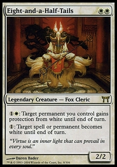 Magic the Gathering Champions of Kamigawa Single Eight-and-a-half-tails - MODERATE PLAY