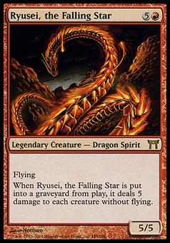 Magic the Gathering Champs of Kamigawa Single Ryusei, the Falling Star Foil - SLIGHT PLAY (SP)