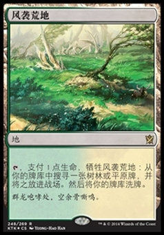 Magic the Gathering Khans of Tarkir CHINESE Single Windswept Heath - NEAR MINT (NM)