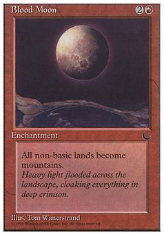 Magic the Gathering Chronicles Single Blood Moon - MODERATE PLAY (MP)