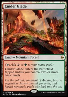 Magic the Gathering Battle for Zendikar Single Cinder Glade Foil NEAR MINT (NM)