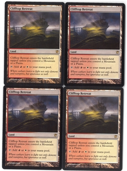 Magic the Gathering Innistrad Single PLAYSET Clifftop Retreat X4 - NEAR MINT (NM)