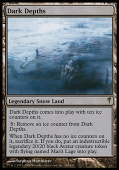 Magic the Gathering Coldsnap Single Dark Depths - MODERATE PLAY (MP) + Writing
