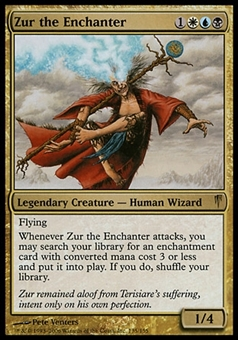 Magic the Gathering Coldsnap Single Zur the Enchanter - MODERATE PLAY (MP)