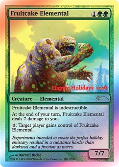 Magic the Gathering Promotional Single Fruitcake Elemental Foil