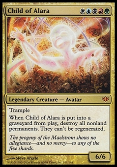Magic the Gathering Conflux Single Child of Alara - MODERATE PLAY (MP)