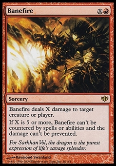 Magic the Gathering Conflux Single Banefire - MODERATE PLAY (MP)