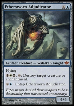 Magic the Gathering Conflux Single Ethersworn Adjucator FOIL - NEAR MINT (NM)