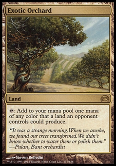 Magic the Gathering Conflux Single Exotic Orchard FOIL - SLIGHT PLAY (SP)
