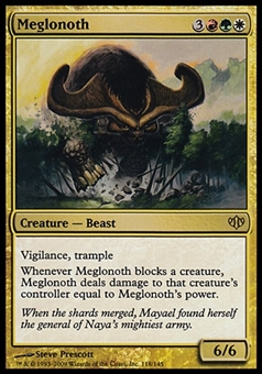 Magic the Gathering Conflux Single Meglonoth FOIL - SLIGHT PLAY (SP)