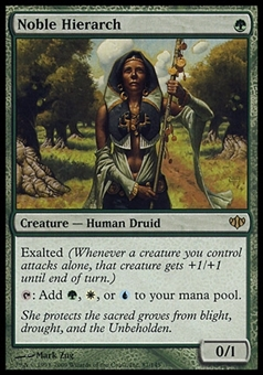 Magic the Gathering Conflux Single Noble Hierarch - MODERATE PLAY (MP)