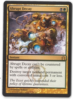 Magic the Gathering Return to Ravnica Single Abrupt Decay (CRIMPED) - NEAR MINT (NM)
