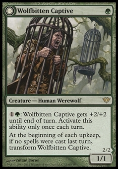 Magic the Gathering Dark Ascension Single Wolfbitten Captive FOIL - NEAR MINT (NM)