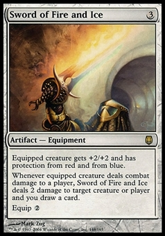Magic the Gathering Darksteel Single Sword of Fire and Ice - MODERATE PLAY (MP)