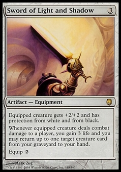 Magic the Gathering Darksteel Single Sword of Light and Shadow - MODERATE PLAY (MP)