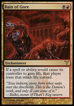Magic the Gathering Dissension Single Rain of Gore - SLIGHT PLAY (SP)