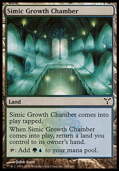 Magic the Gathering Dissension Single Simic Growth Chamber FOIL - SLIGHT PLAY (SP)