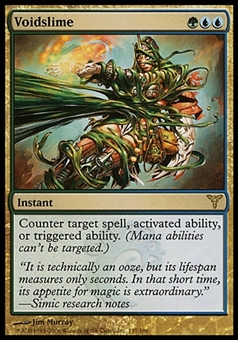 Magic the Gathering Dissension Single Voidslime FOIL - MODERATE PLAY (MP)