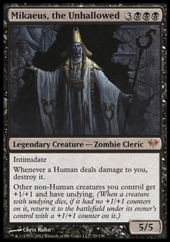 Magic the Gathering Dark Ascension Single Mikaeus, the Unhallowed FOIL - SLIGHT PLAY (SP)
