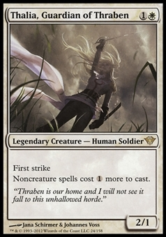 Magic the Gathering Dark Ascension Single Thalia, Guardian of Thraben FOIL - SLIGHT PLAY (SP)
