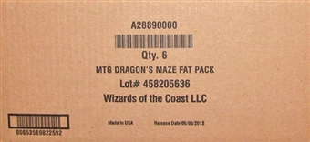 Magic the Gathering Dragon's Maze Fat Pack 6-Box Case