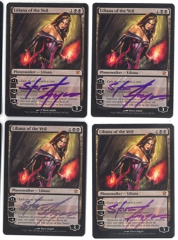 Magic the Gathering Innistrad PLAYSET Liliana of the Veil (Signed by Artist) - SLIGHT PLAY (SP)