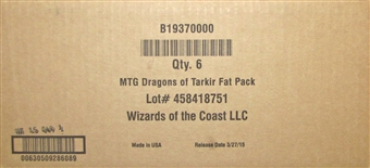 Magic the Gathering Dragons of Tarkir Fat Pack Case (6 Ct.)