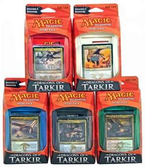 Magic the Gathering Dragons of Tarkir Intro Pack - Set of 5