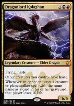 Magic the Gathering Dragons of Tarkir Single Dragonlord Kolaghan Foil NEAR MINT (NM)