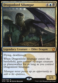 Magic the Gathering Dragons of Tarkir Single Dragonlord Silumgar Foil NEAR MINT (NM)