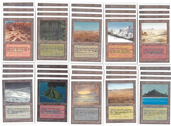 Magic the Gathering Unlimited Dual Land PLAYSET (40 duals, 4 of each) - NM - MP