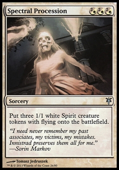 Magic the Gathering Duel Deck Promo Single Spectral Procession - Near Mint (M/NM)