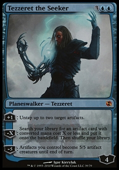 Magic the Gathering Duel Decks Single Tezzeret the Seeker FOIL - MODERATE PLAY (MP)
