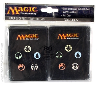 Magic the Gathering Black Mana Symbol Deck Protector Sleeves 80-ct Pack (Ultra Pro)