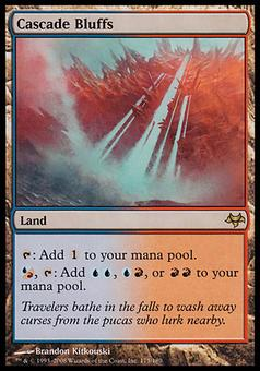 Magic the Gathering Eventide Single Cascade Bluffs - SLIGHT PLAY (SP)