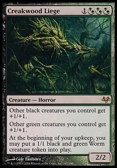 Magic the Gathering Eventide Single Creakwood Liege - MODERATE PLAY (MP)