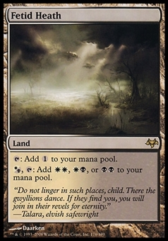 Magic the Gathering Eventide Single Fetid Heath FOIL - SLIGHT PLAY (SP)