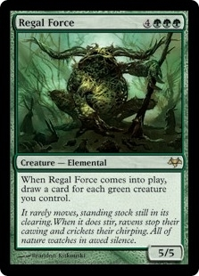 Magic the Gathering Eventide Single Regal Force - SLIGHT PLAY (SP)