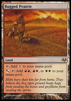 Magic the Gathering Eventide Single Rugged Prairie - SLIGHT PLAY (SP)