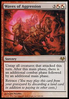 Magic the Gathering Eventide Single Waves of Aggression FOIL - SLIGHT PLAY (SP)