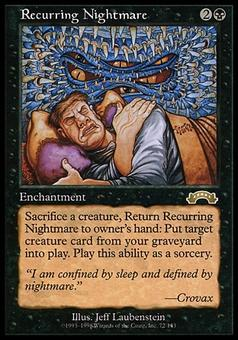 Magic the Gathering Exodus Single Recurring Nightmare - MODERATE PLAY (MP)