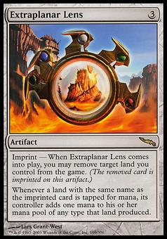 Magic the Gathering Mirrodin Single Extraplanar Lens - HEAVY PLAY (HP)