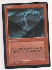Magic the Gathering 3rd Ed. (Revised) FRENCH Single Lightning Bolt (FBB) - SLIGHT PLAY (SP)