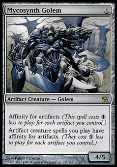 Magic the Gathering Fifth Dawn Single Mycosynth Golem - MODERATE PLAY (MP)