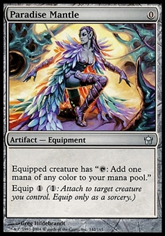 Magic the Gathering Fifth Dawn Single Paradise Mantle FOIL - SLIGHT PLAY (SP)