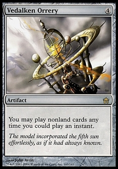 Magic the Gathering Fifth Dawn Single Vedalken Orrery FOIL - SLIGHT PLAY (SP)
