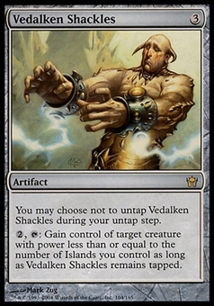 Magic the Gathering Fifth Dawn Single Vedalken Shackles FOIL - SLIGHT PLAY (SP)